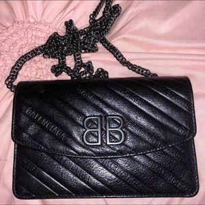Black Balenciaga purse